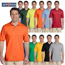 NEW Jerzees Men's 50/50 Jersey Golf Polo Shirt with SpotShield 2XL-5XL B-437