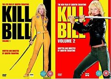 KILL BILL Volume 1 + 2 DVD Double 2 Movie Film Collection Part 1 2 Brand New UK