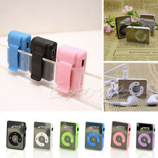Mini 7 Colors Mirror Clip Support 8GB SD TF Card USB Digital Mp3 Music Player