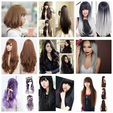 Hot Women Fashion Long Wavy Straight Hair Cosplay Costume Party Full Wig/Wigs