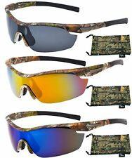 Hornz Polarized Camouflage Sunglasses Forrest Camo Sport Wrap Around HZ98001-04