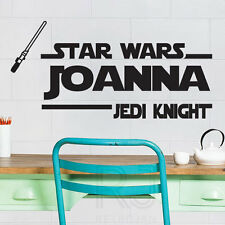 Star Wars Jedi Knight Personalized Wall Quotes Name Stickers Wall Decals