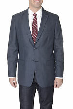 Club Room Mens Navy Houndstooth Two Button Blazer Sportcoat