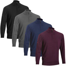 Mizuno Golf Mens Merino Wool 1/4 Zip Sweater Warmalite Pullover Thermal Top