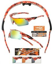 VertX Camouflage Sport Sunglasses Half Frame Hunting Fishing Outdoor 56080org
