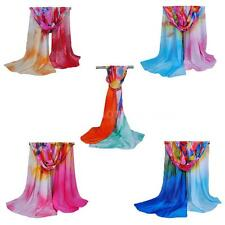 Women Fashion Long Soft Scarf Chiffon Scarf Wrap Shawl Stole Travel Scarves PO0X