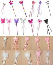 CHILDS, LADIES, WANDS, HEN NIGHT, FANCY DRESS, FAIRY, BUTTERFLY, HEART, STAR