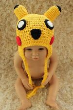 Cute Handmade Pokemon Pikachu Baby Child Knit Hat Cap Photo Prop 0-4 Year New