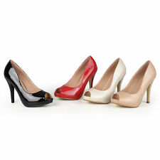 Journee Collection Womens Peep-toe Patent Pumps