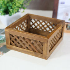 Handmade Rustic Solid Wood Picket Fence Planter Box For Home Decor Organizer