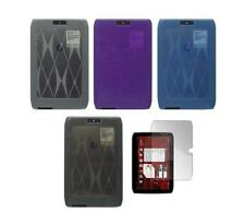 "TPU Skin Cover Case and Screen Protector for Motorola Droid Xyboard 8.2"" Tablet"