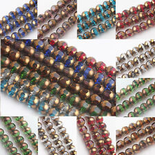 Wholesale 20/40Pcs Faceted Crystal Glass Loose Rondelle Spacer Beads DIY 8MM