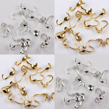 Wholesale 100Pcs Silver/Gold 10x4mm Tone Charlotte Findings Crimp End Beads