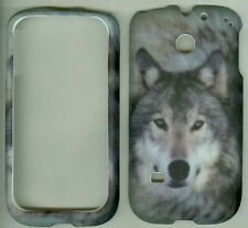 Straight Talk HUAWEI M865C/Ascend II 2 Snap On Cover Hard Case Grey wolf hunt