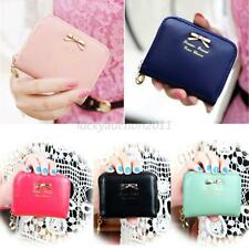 Women's Fashion Leather Small Wallet Card Holder Zip Coin Purse Clutch Handbag