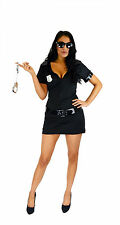 Ladies Sexy Cop Police Woman Uniform Fancy Dress Costume Outfit