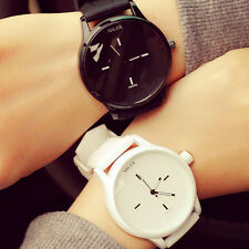 Women Mens Casual Watches Quartz Analog Wristwatch Silicone Couple Sports Watch