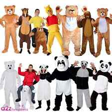 ADULT BEAR BROWN GRIZZLY POLAR WILD ANIMAL PANDA ZOO MASCOT FANCY DRESS COSTUME