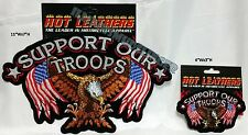 Support Our Troops American Eagle with Flags as Wings Biker Patches