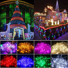 10M/20M 100/200LED Flash Steady Christmas Home Garden String Fairy Lights Decor