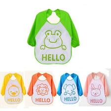 New Baby Kids Feeding Bibs Cartoon Translucent Plastic Waterproof Soft Baby Bibs