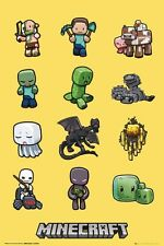 New Minecraft Characters Creeper Poster