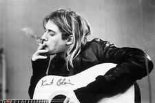 New Nirvana Kurt Cobain Having a Smoke Poster