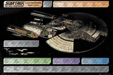 New Star Trek U.S.S. Enterprise NCC-1701-D The Next Generation Poster