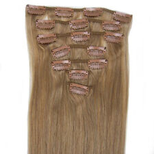 "NEW Straight 15""18 ""20""22"" 7PCS Clip in Extension Human Remy Hair #16 Ash Blonde"