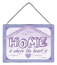 Home Is Where The Heart Is Hanging Tin Sign 20x15cm