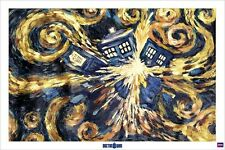 New Doctor Who Exploding Tardis Dr Who Poster