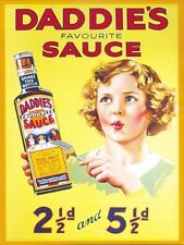 New Daddie's Favourite Sauce Classic Advertising Metal Tin Sign