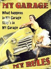 New My Garage My Rules Tin Sign