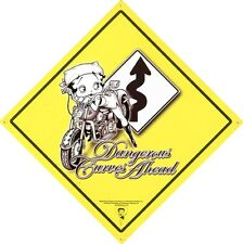 New Betty Boop Dangerous Curves Ahead Metal Tin Sign