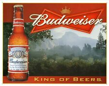 New Budweiser King Of Beers Metal Tin Sign