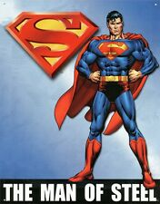 New The Man of Steel Superman Metal Tin Sign