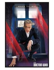 Doctor Who Gloss Black Framed The Doctor and The Tardis Maxi Poster 61x91.5cm