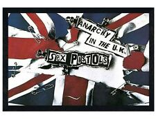 Sex Pistols Black Wooden Framed Anarchy in the UK Maxi Poster 91.5x61cm