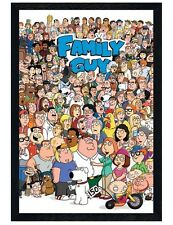Family Guy Black Wooden Framed Character Compilation Maxi Poster 61x91.5cm