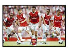 Arsenal FC Gloss Black Framed The Gunners Star Players AFC Poster 91.5x61cm