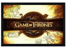 New Black Wooden Framed Game of Thrones Title Card Poster