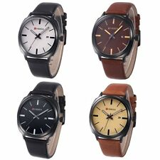 Fashion Curren Women Men's Quartz Leather Analog Sport Wrist Watch