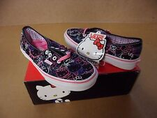 Vans Women's Authentic Hello Kitty Black Passion Flower Skate Shoes VN-0QER66Y