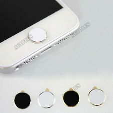 Metal Aluminium Round  Home Button Sticker for iPhone 4S 5 iPod Touch iPad NEW