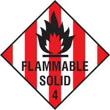 Dang0006 Flammable Solid Sign Sticker Health Safety Warning