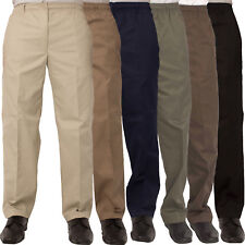 Carabou Rugby Mens Formal Workwear Pants Trousers Elasticated Waist Sizes 32-60
