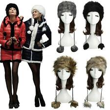 Women Russian Cossack Cap Faux Fur Lady Pretty Warm Winter Snow HOT Hat CK3C