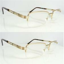 2 Pairs New Reading Glasses Mens Brown/Gold Semi Rimless +1.25 +1.75 +3.0 R133X2
