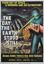 """""""THE DAY the EARTH STOOD STILL"""" .Vintage Sci-Fi Movie Poster A1 A2 A3 A4Sizes"""