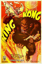 KING KONG Fay Wray Robert Armstrong Vintage1934 Movie Poster A1A2A3A4Sizes